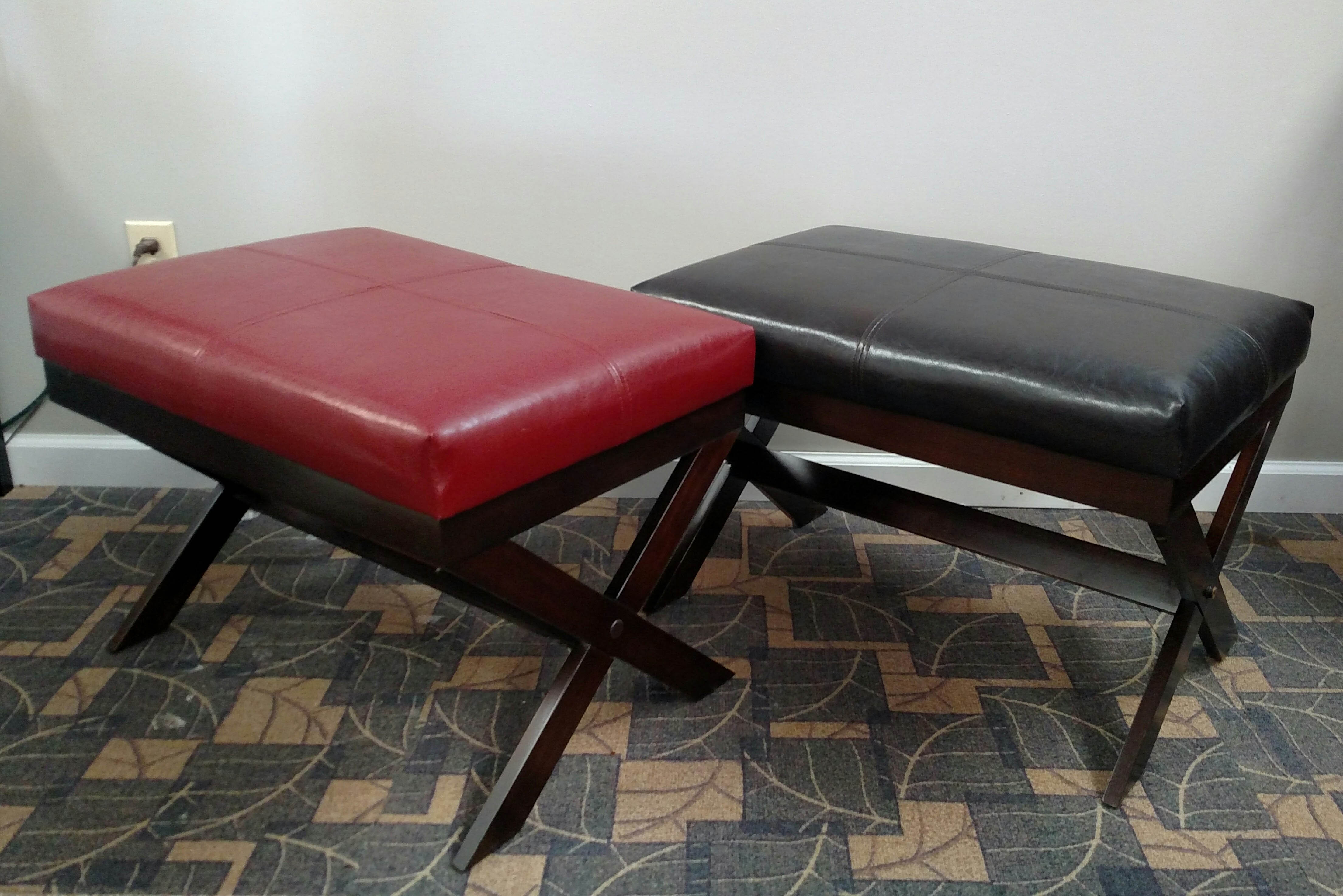 Bronson Faux-Leather Bench
