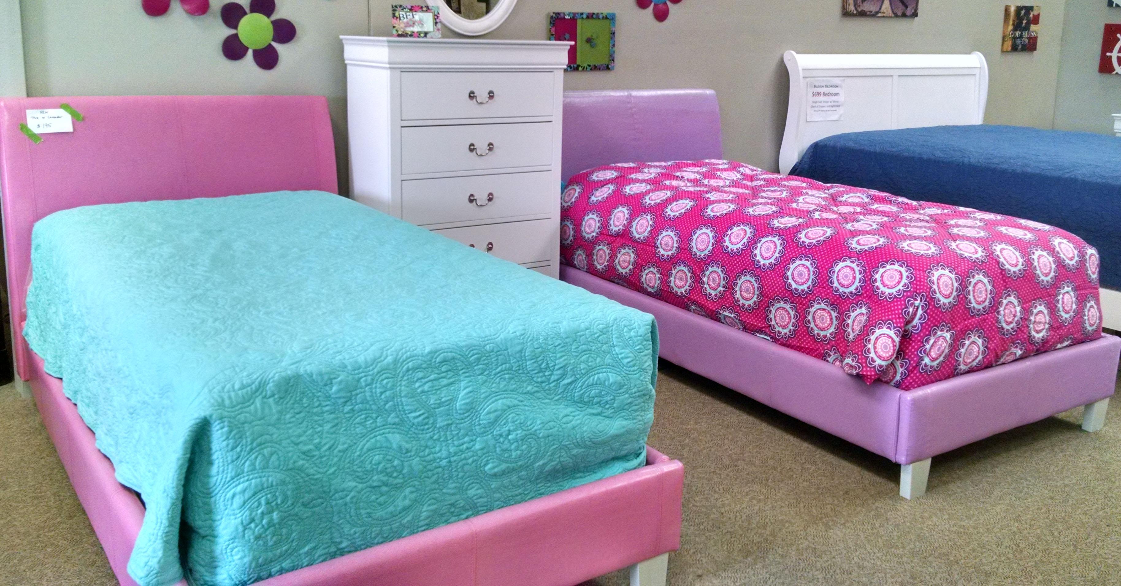 Pink or Lavender Platform Bed