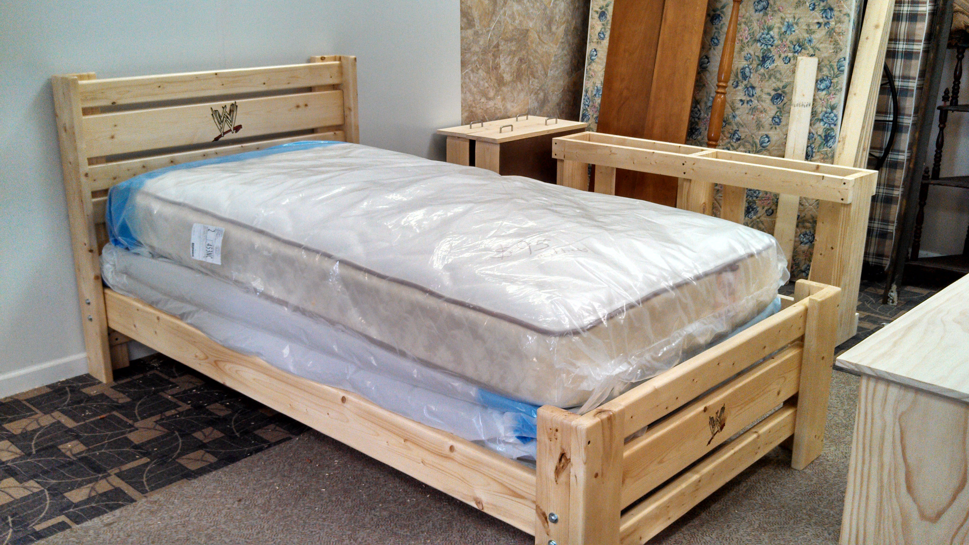 Plank Style Bed