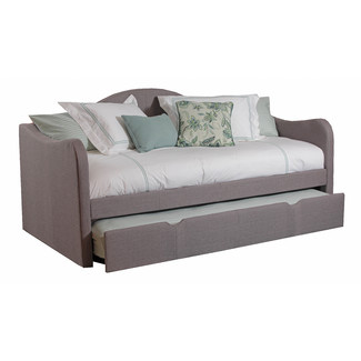 Gray Linen Daybed w/ Trundle