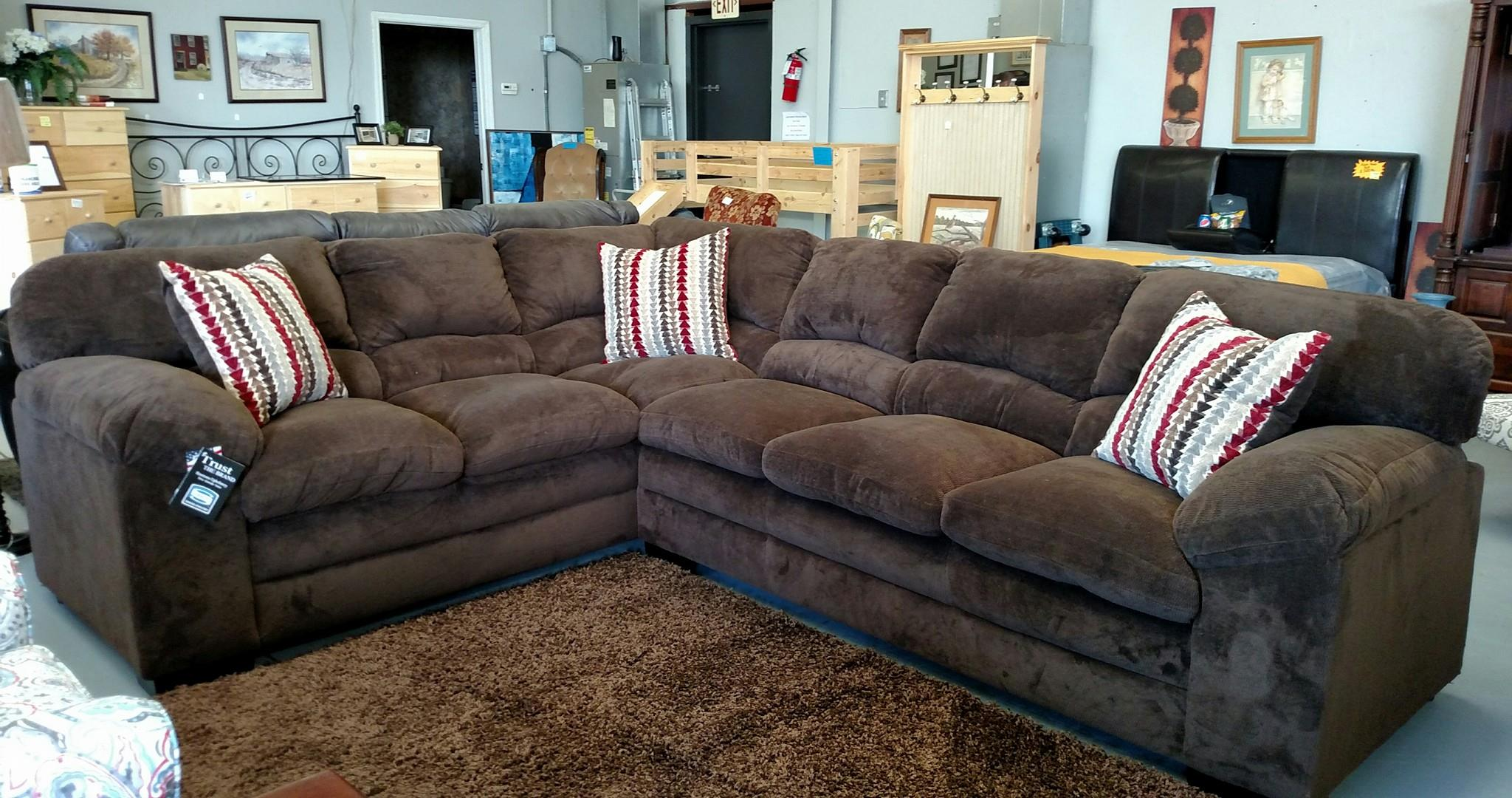 Dover Coffee Brown Sectional
