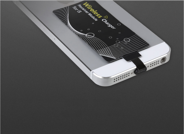Optional wireless charging receiving cards