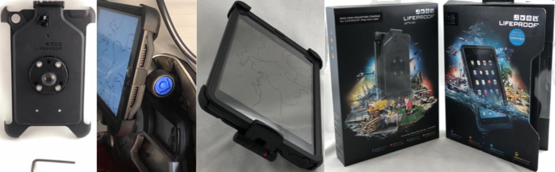 LifeProof iPad Mini  locking MOUNTING CRADLE  and FRĒ CASE  FOR iPAD MINI wifi+ cellular series 1, 2, 3
