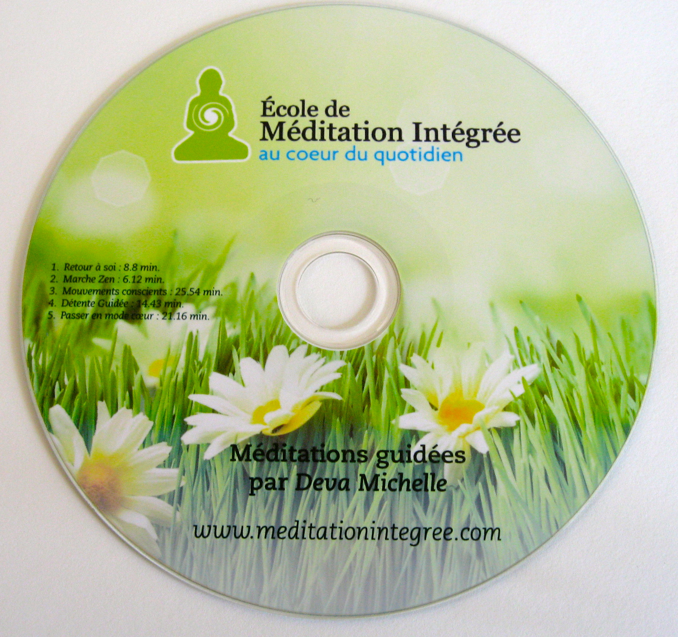 CD de 5  méditations guidées par Deva Michelle