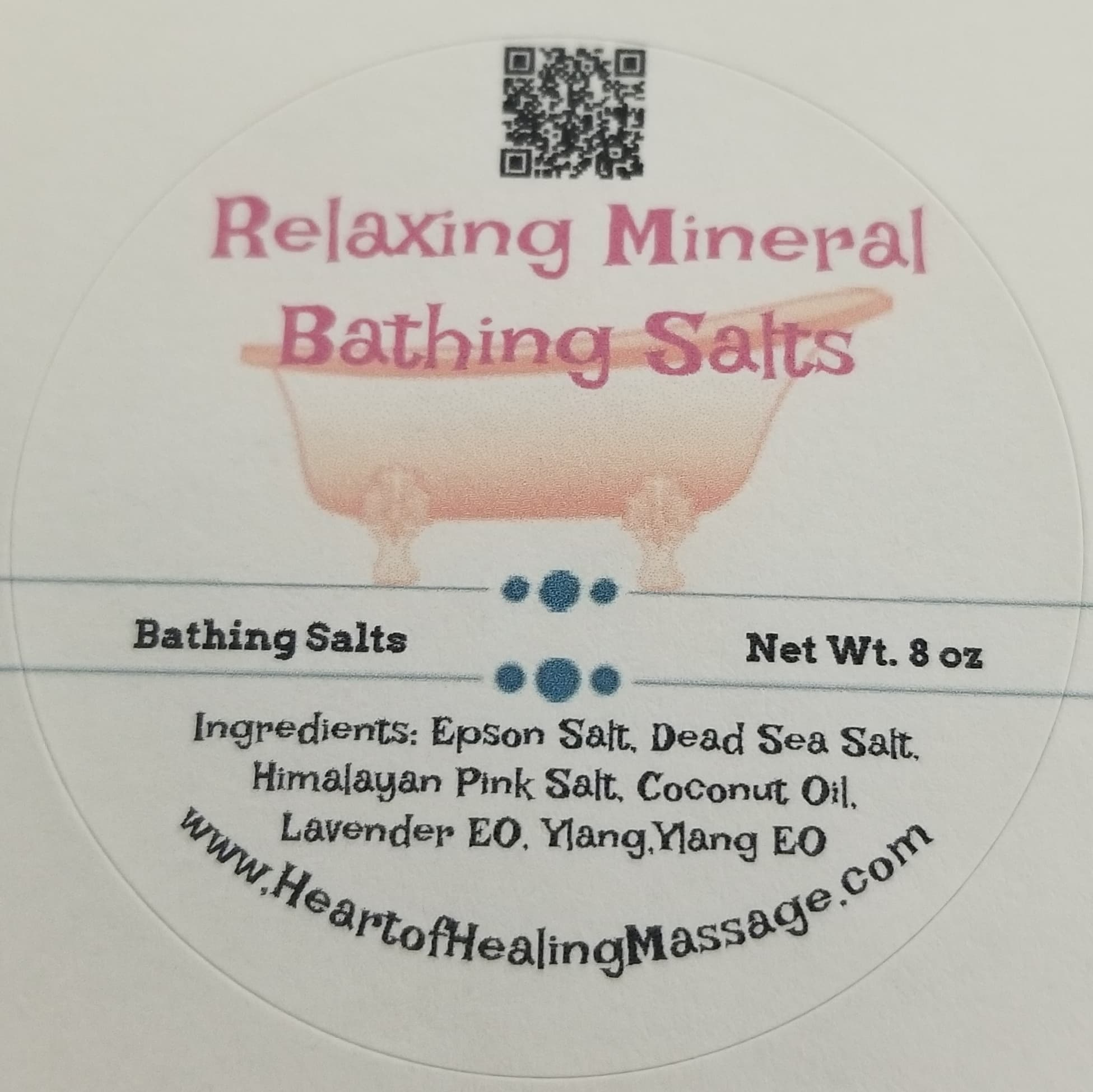 Relaxing Mineral Bathing Salts - 8oz