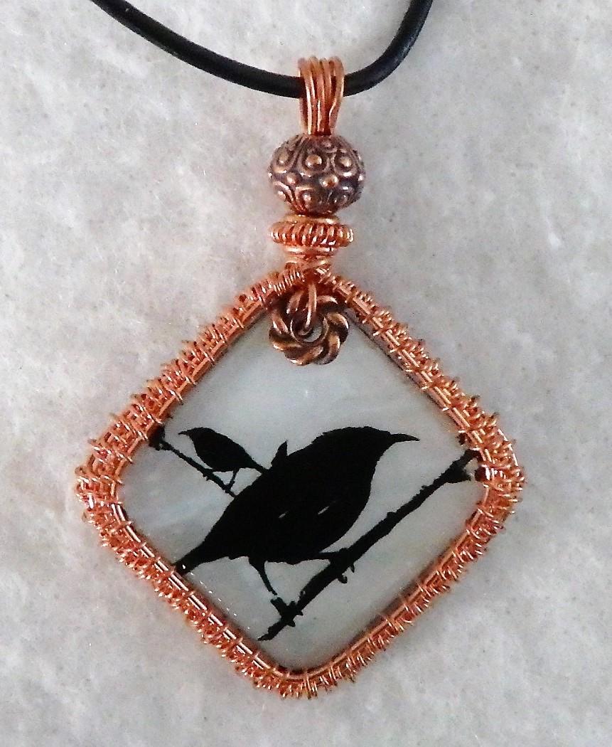 Old Black Crow Pendant