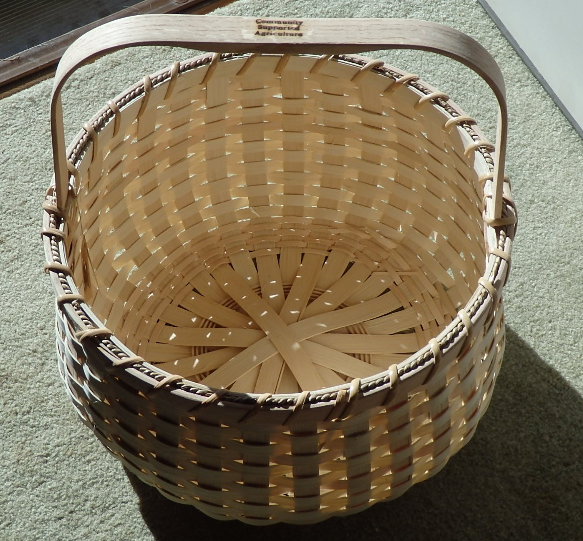 "14"" AROOSTOOK POTATO BASKET IMPRINTED FOR CSA USE"