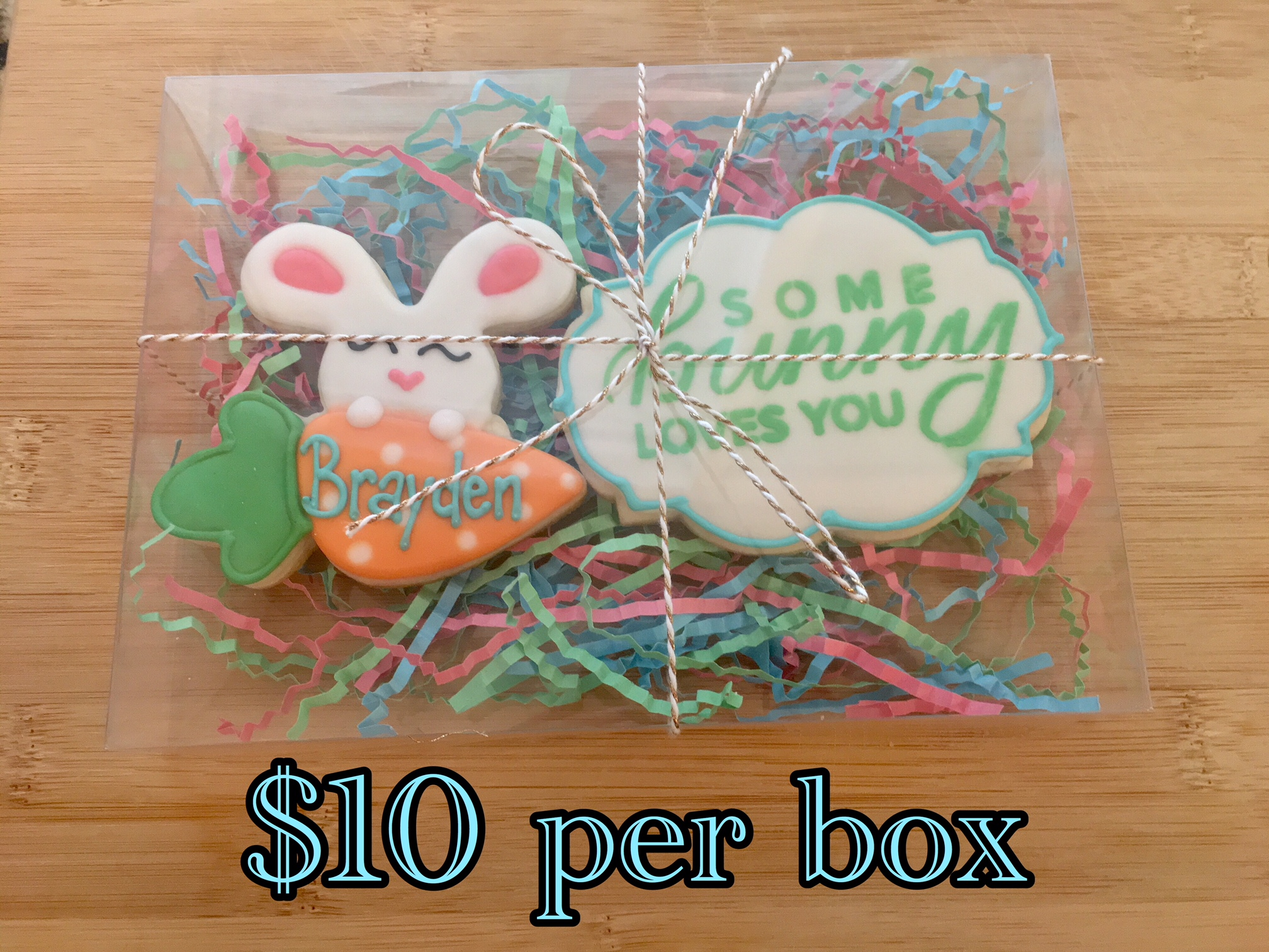 Personalized Boy Easter Cookie