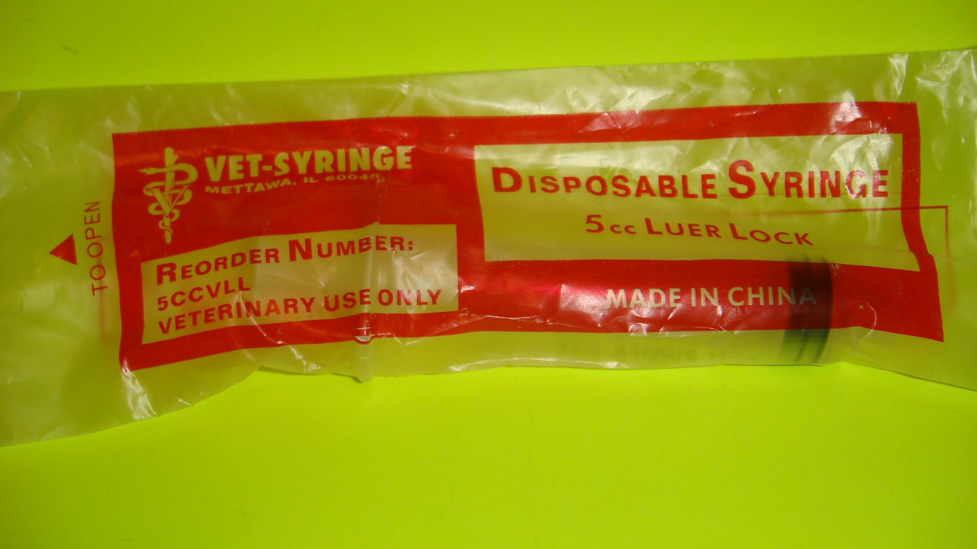 5 cc Syringe no needle attached