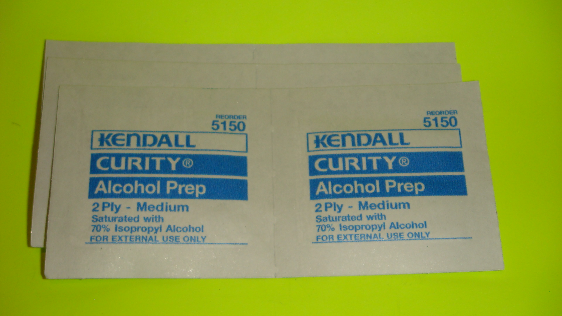 Alcohol prep pads - 6 included