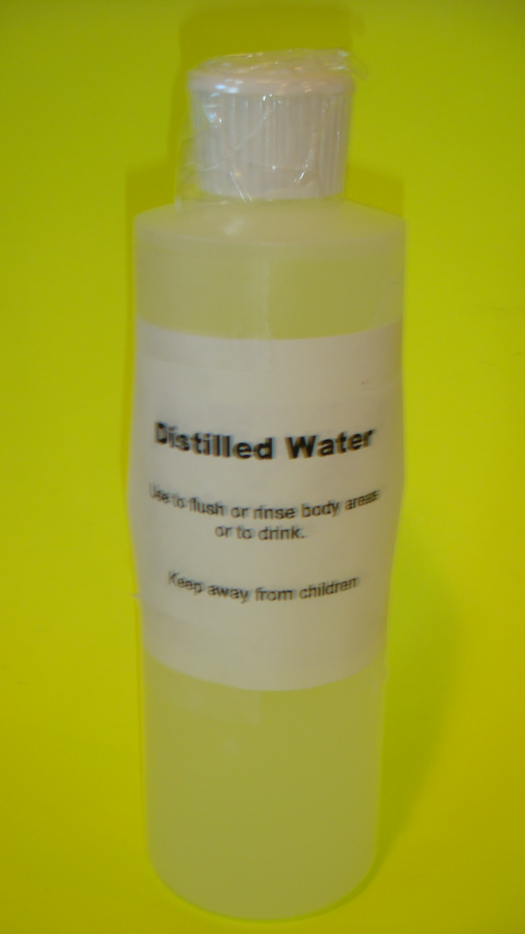 Distilled water 8 oz.