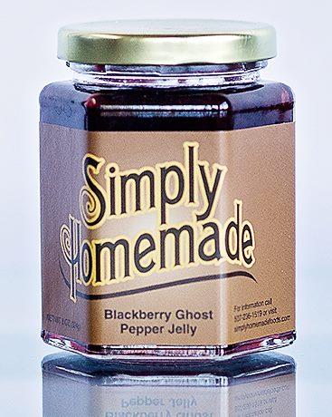 Blackberry Ghost Pepper Jelly