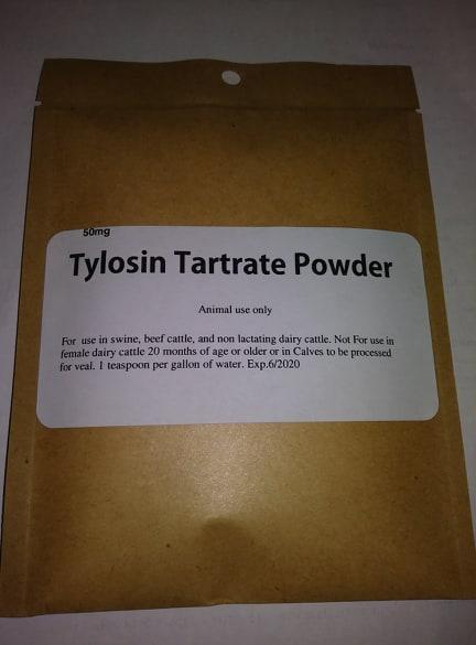 TYLOSIN TARTRATE POWDER 50 MG