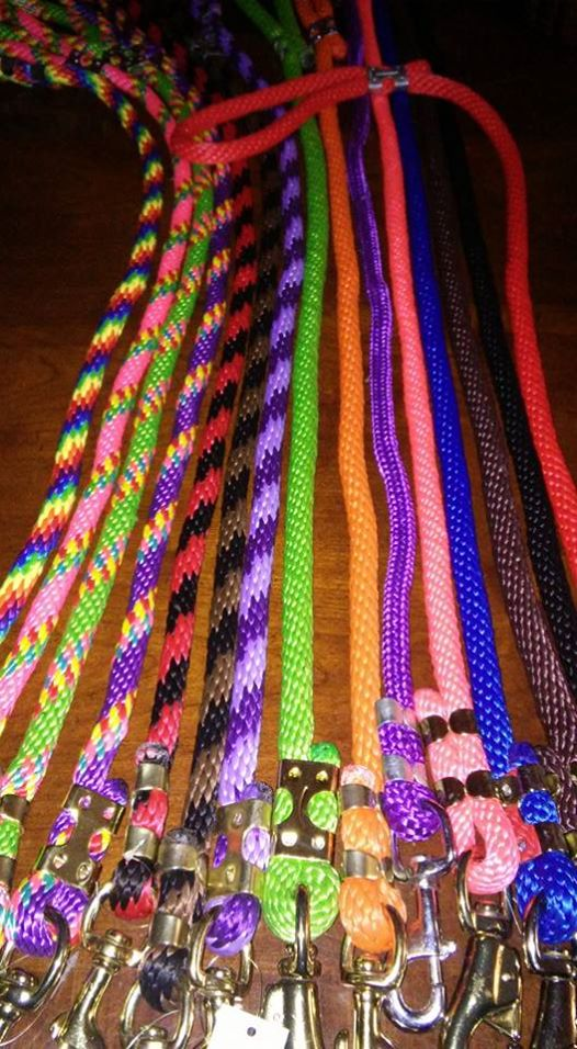 4' Round Nylon Leads Solid Colors