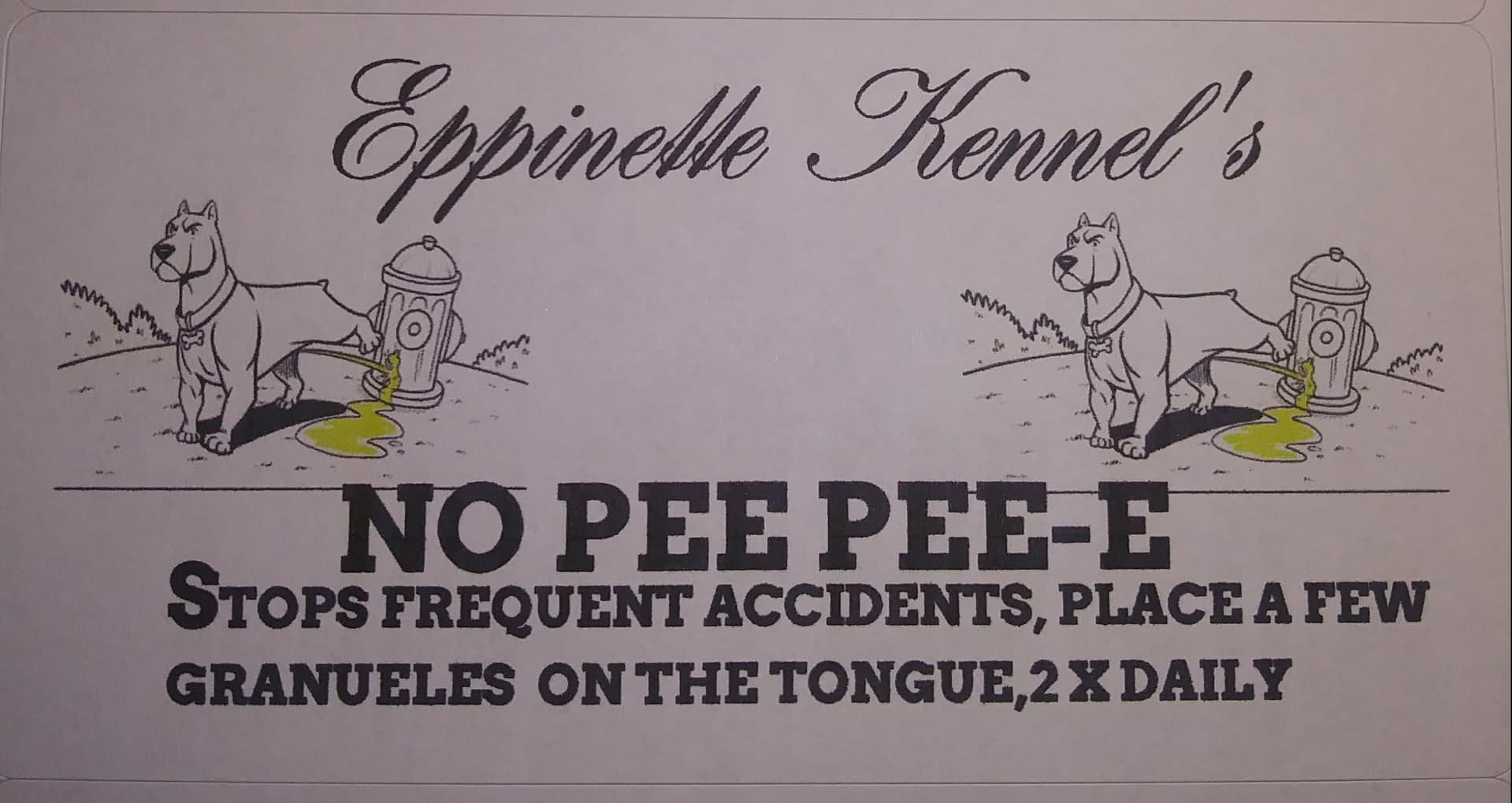 NO PEE PEE-E
