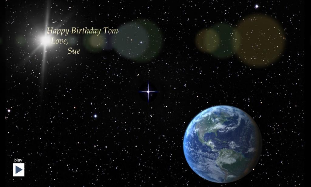 Birthday/ Anniversary Star Videos + eCard