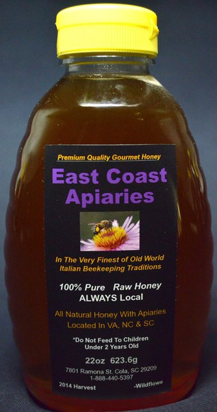East Coast Honey 22 ounce bottle (minimum 2 bottles per order)
