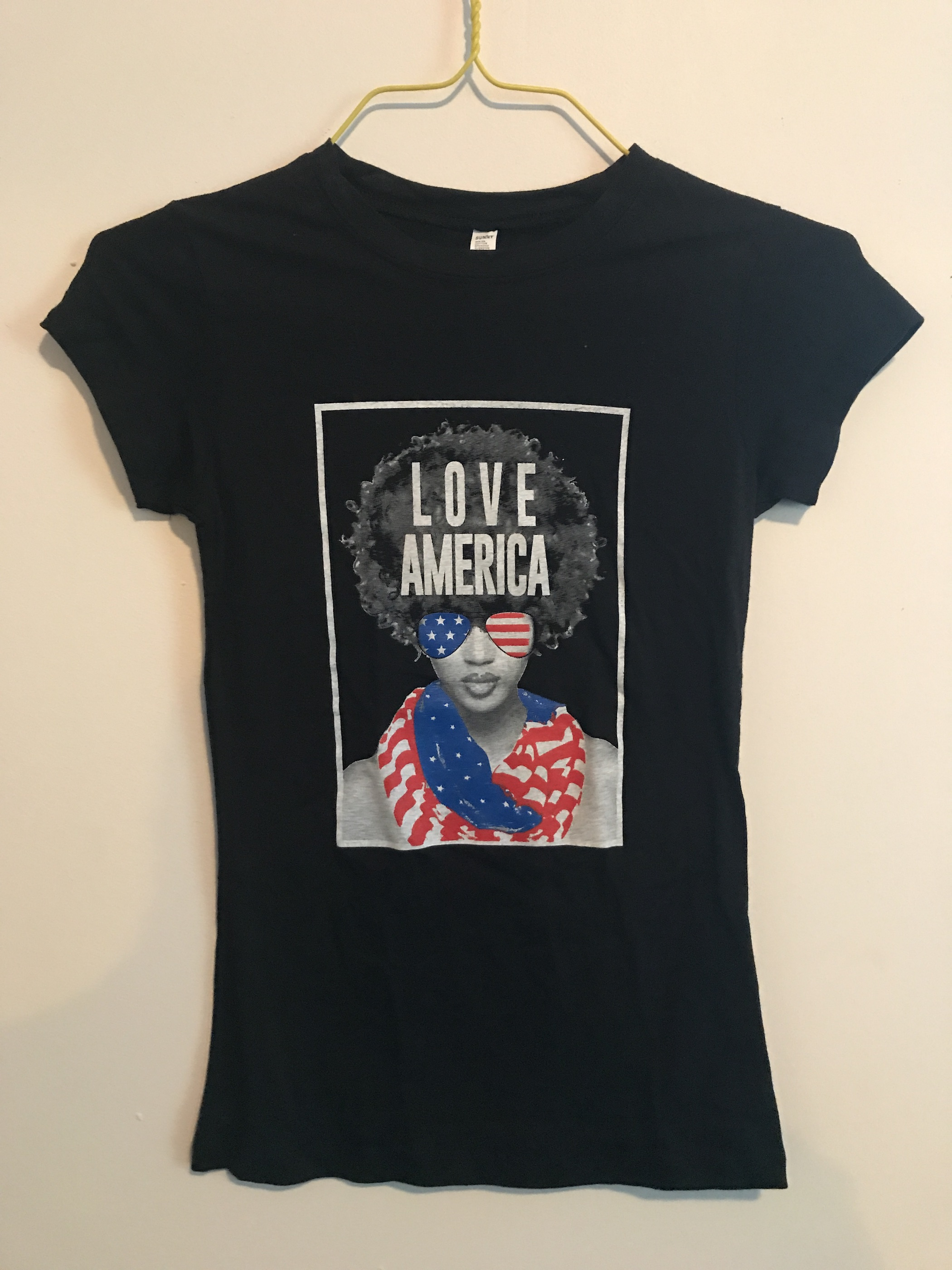 Love America Afro Woman