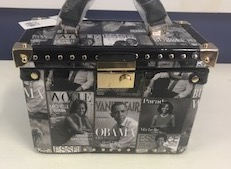 B&W Obama Box Purse