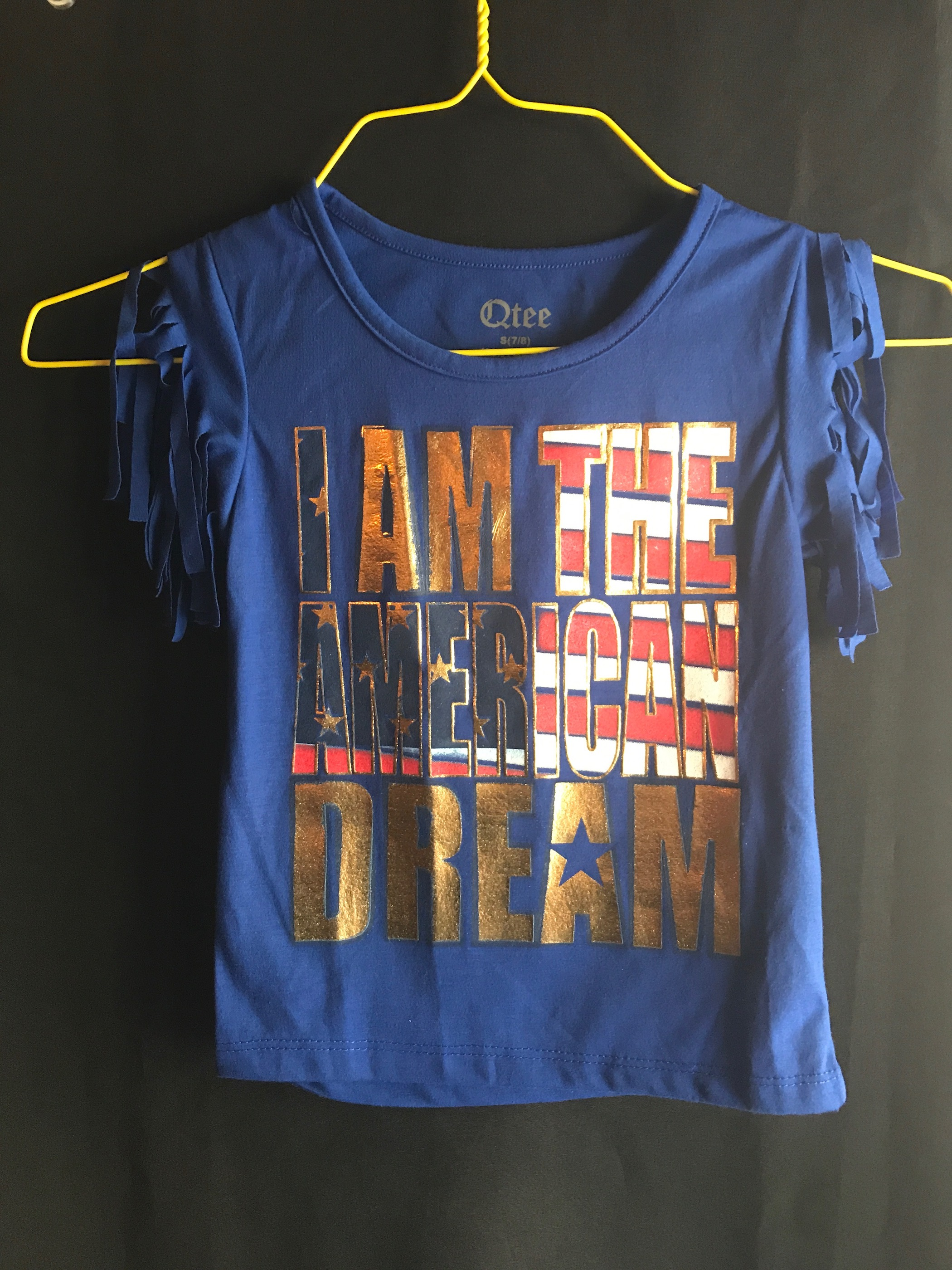 Child's Tees size 7/8- I Am the American Dream