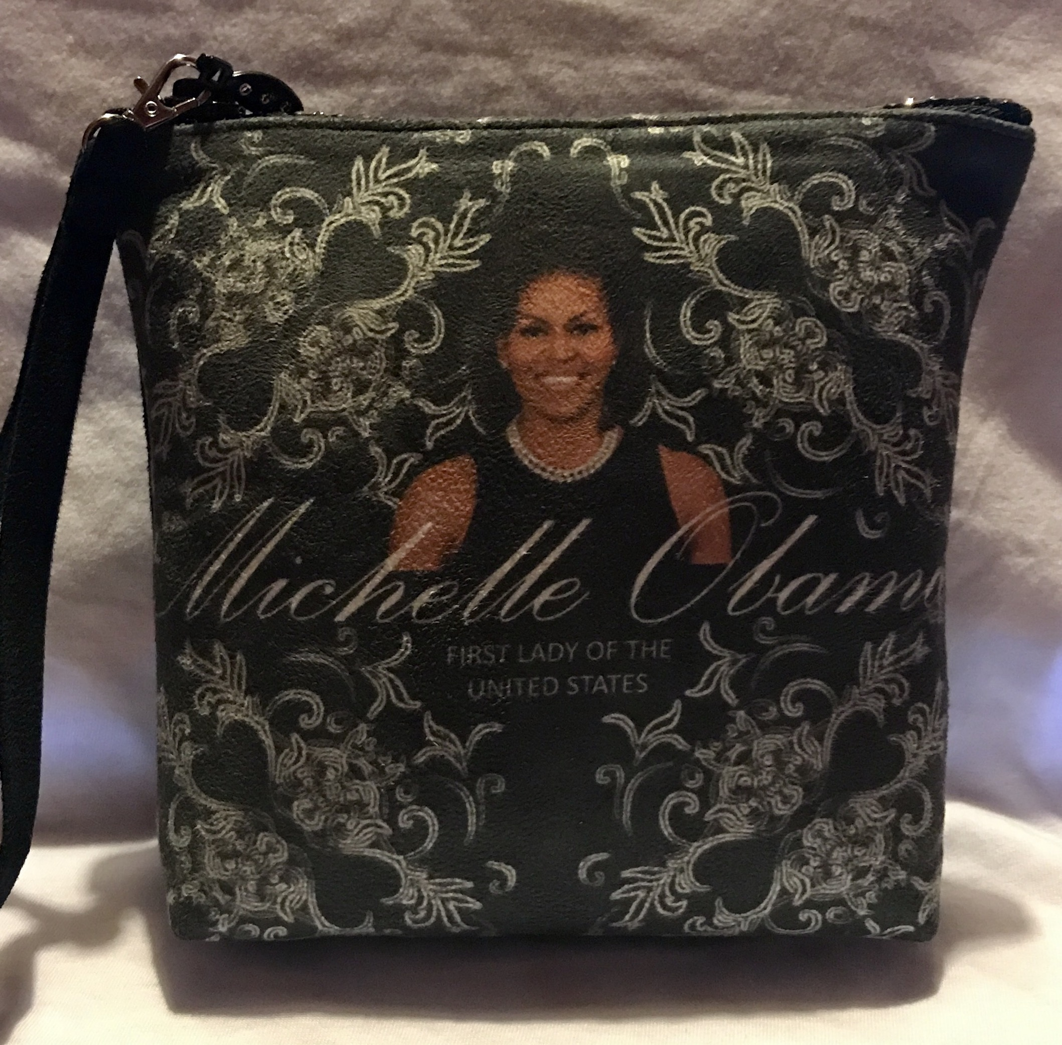 Michelle Obama Ultra-suede cross body