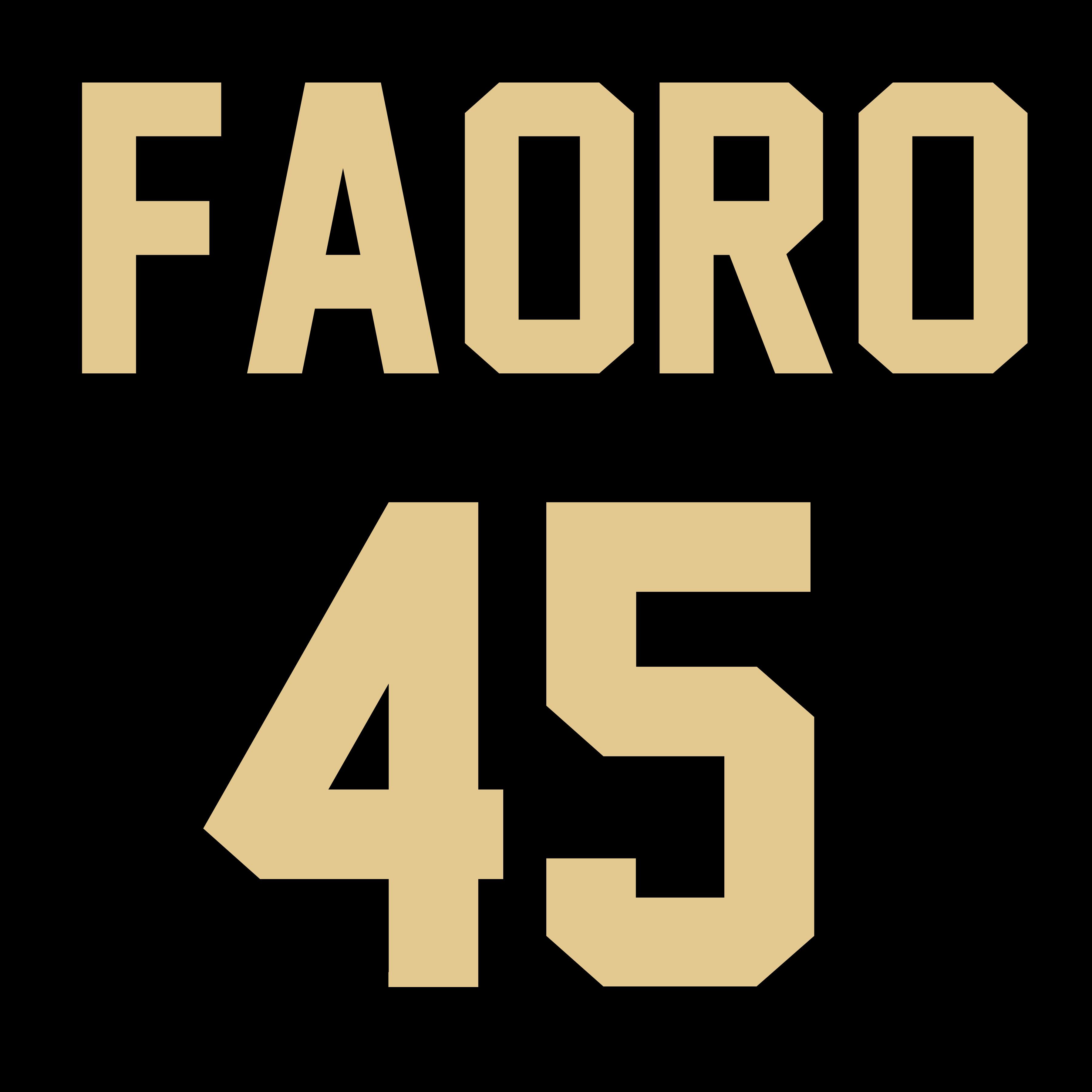 Men's Steve Faoro #45 Fan Jersey