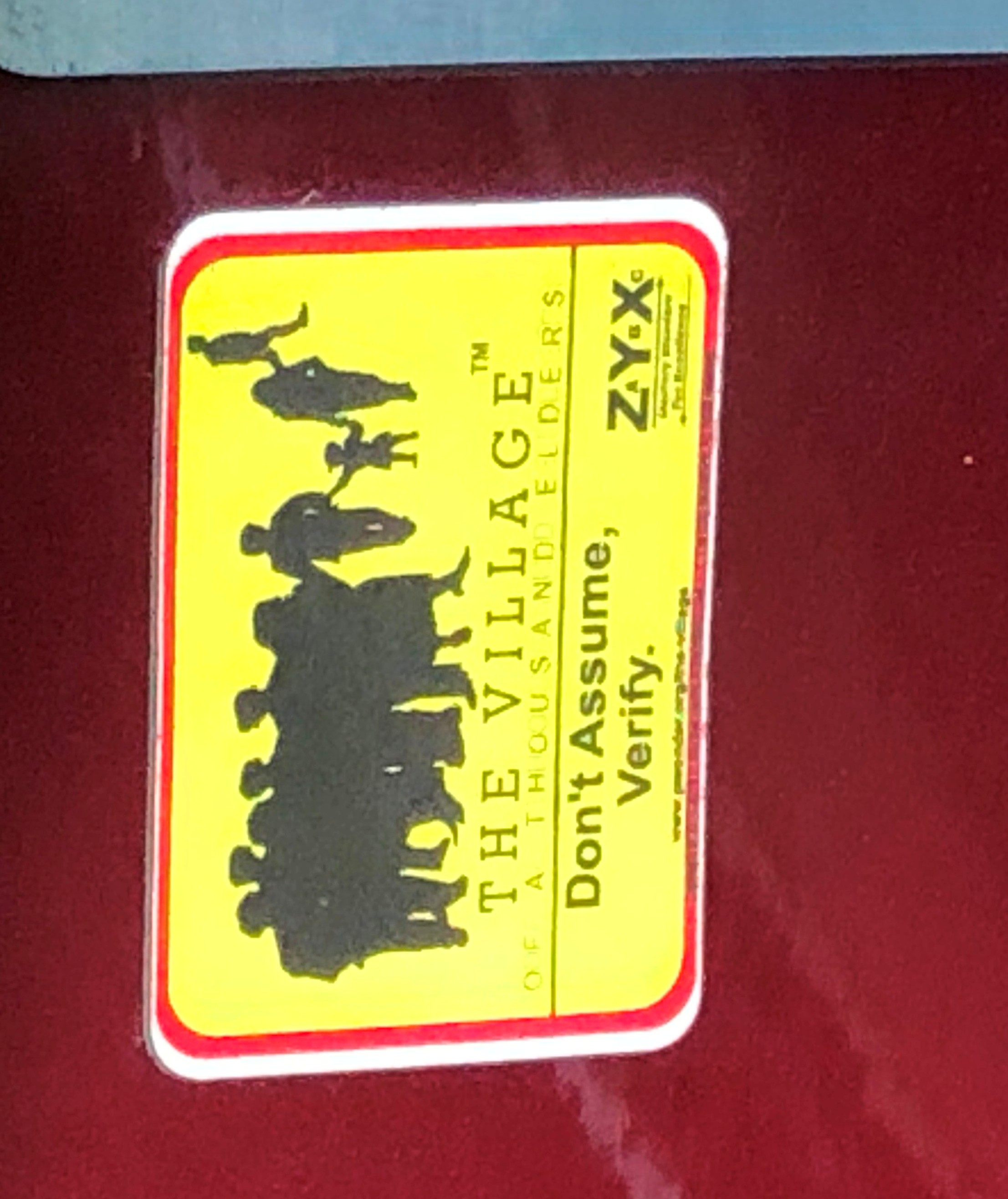 """The """"Village Seal"""" Auto Decal the new decal does not expire"""