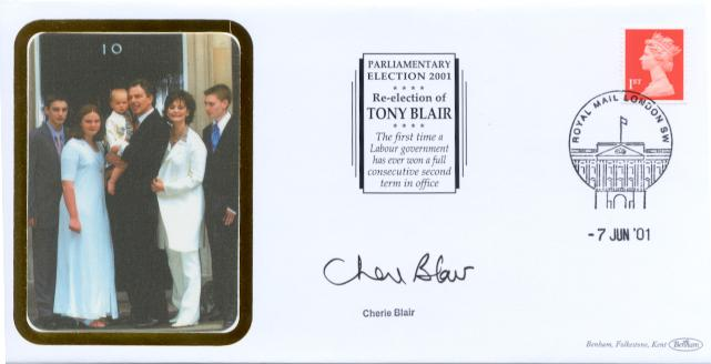 2001 General Election Cheri Blair signed