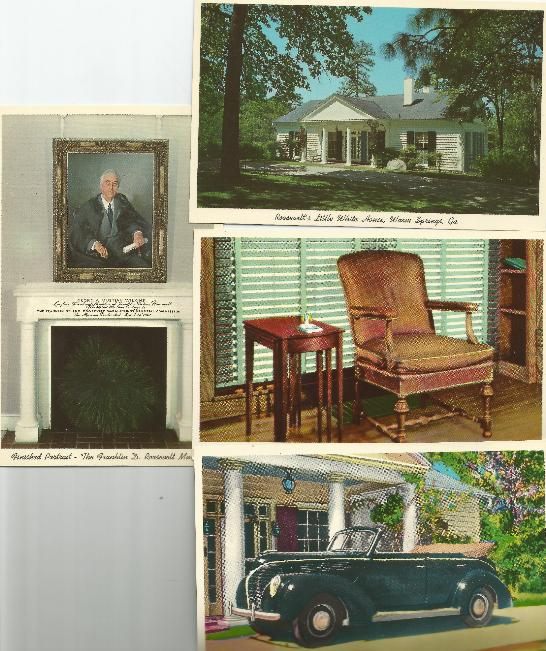 Warm Springs GA FDR postcards