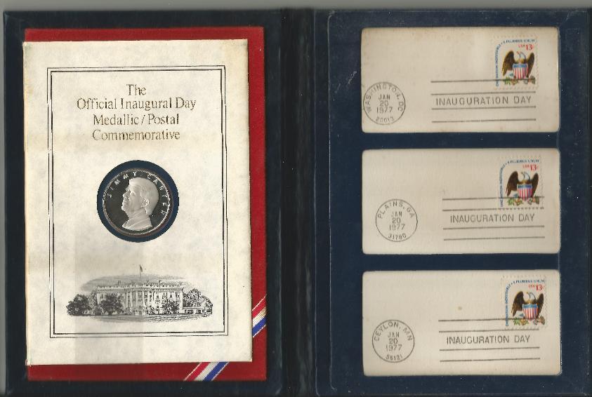 JEC Inaugural Folder (coin & cancels)
