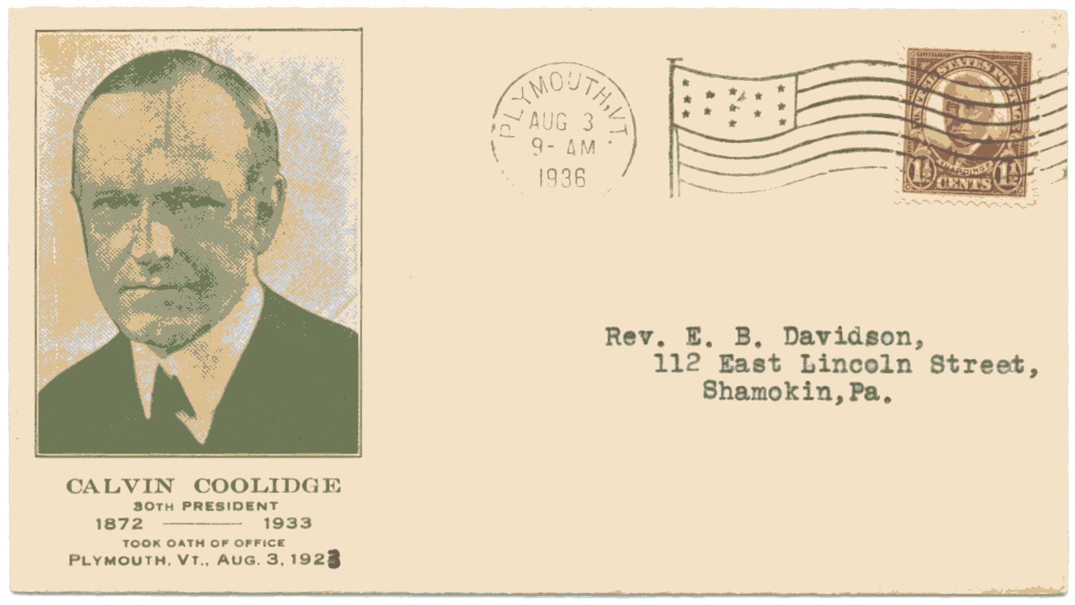 Coolidge Inauguration Anniver 36-08-03