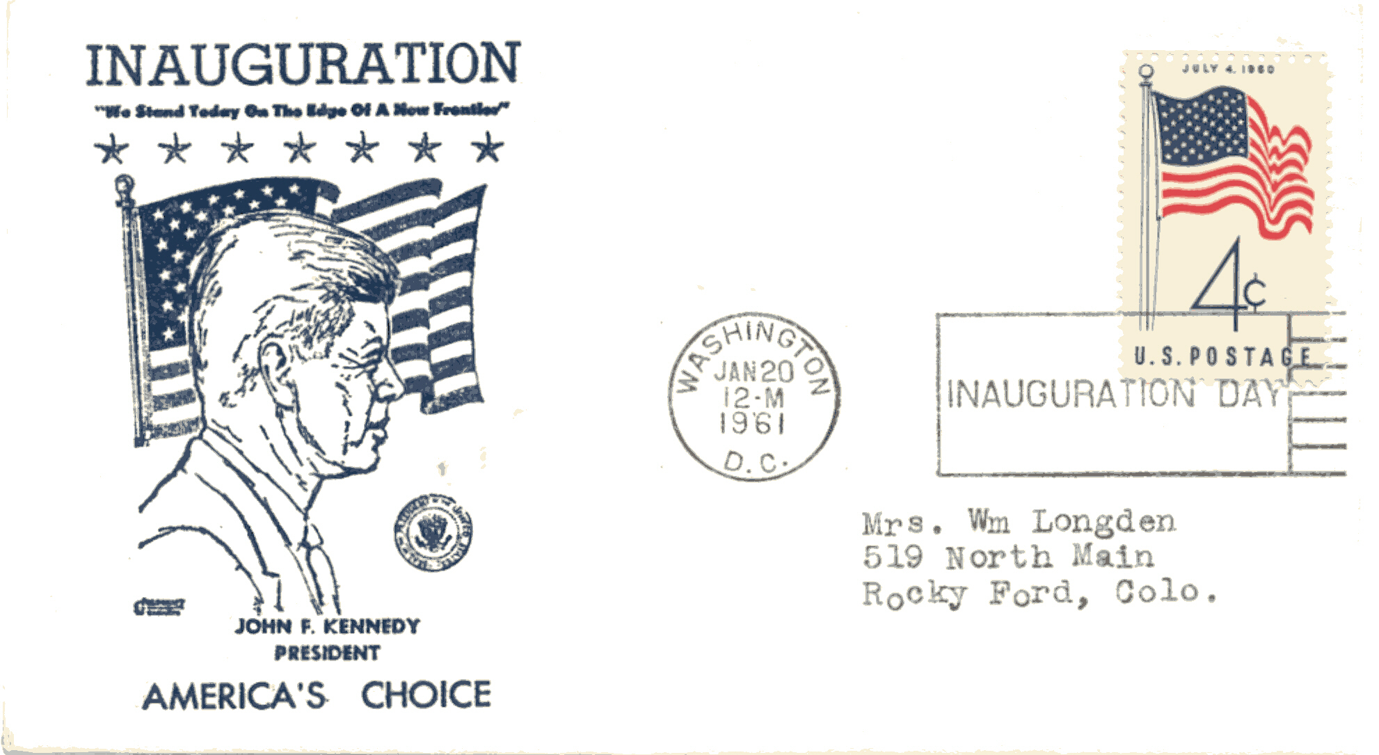 JFK-11 Goldcraft Inaugural Cover