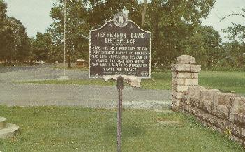 Jefferson Davis Birthplace postcard