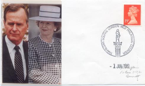 United Kingdom Bush Thatcher meeting