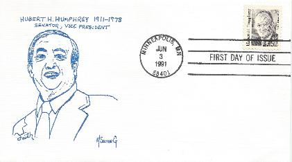 Humphrey Memorial FDC