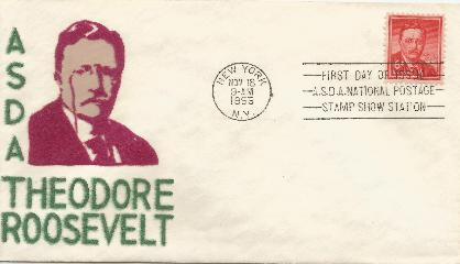 T Roosevelt 6 cent FDC #1