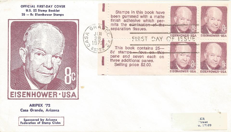 6-28-72  8 cent booklet FDC