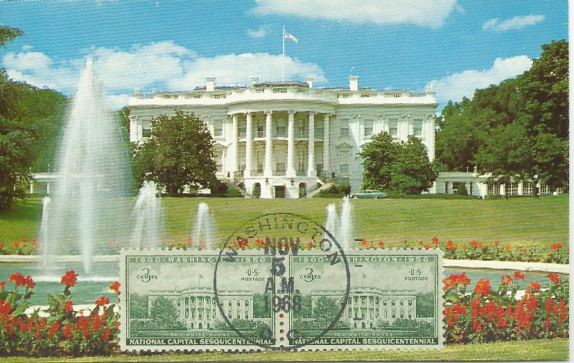 11-5-80 Election Day White House Postcard