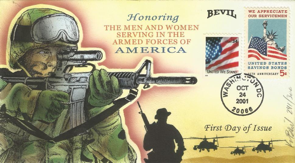 Honoring Servicemen FDC