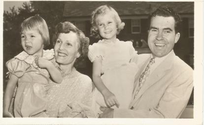 1952 Nixon Family postcard
