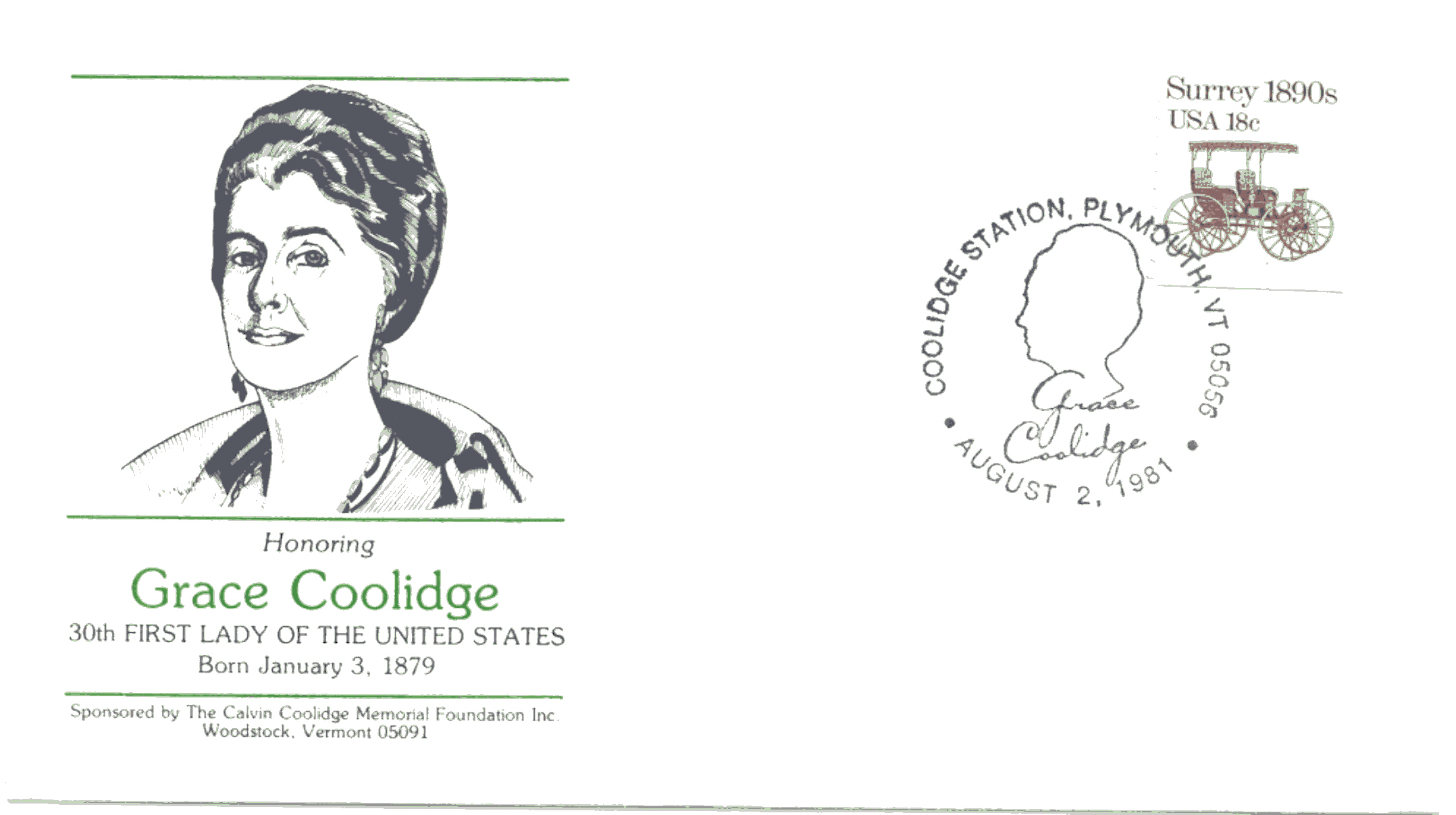 Grace Coolidge Honored 81-08-02