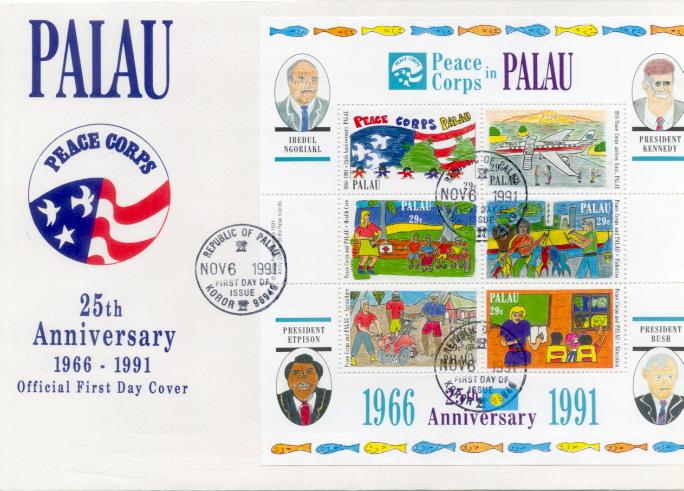 Palau Peace Corps FDC