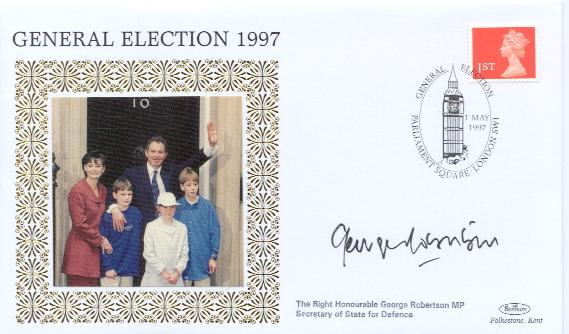 1997 General Election George Robertson signed