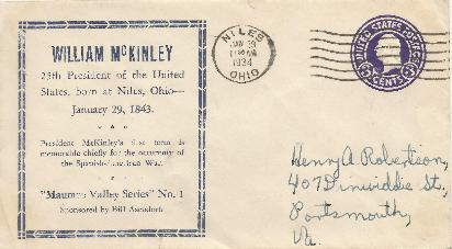 McKinley 34-01-29 Special Event Cover #3
