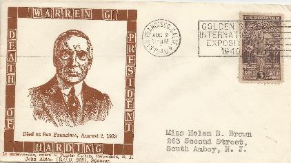 Harding 40-08-02 Death Anniversary