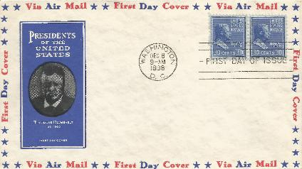T Roosevelt 38-12-08 Prexy FDC