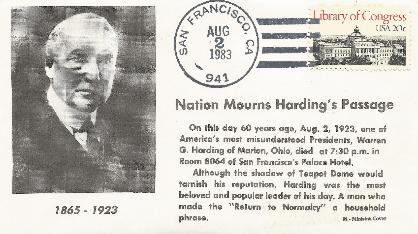 Harding 83-08-02 Death Anniversary