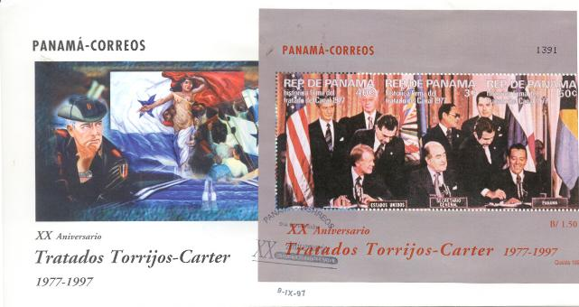 Panama Canal Signing SS FDC