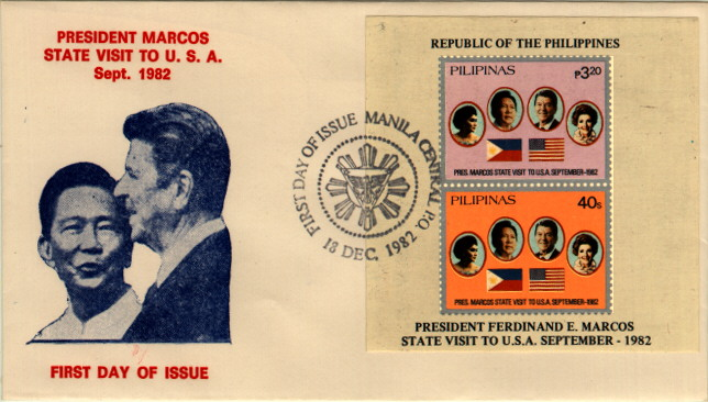 Philippines Marcos Visit FDC #2
