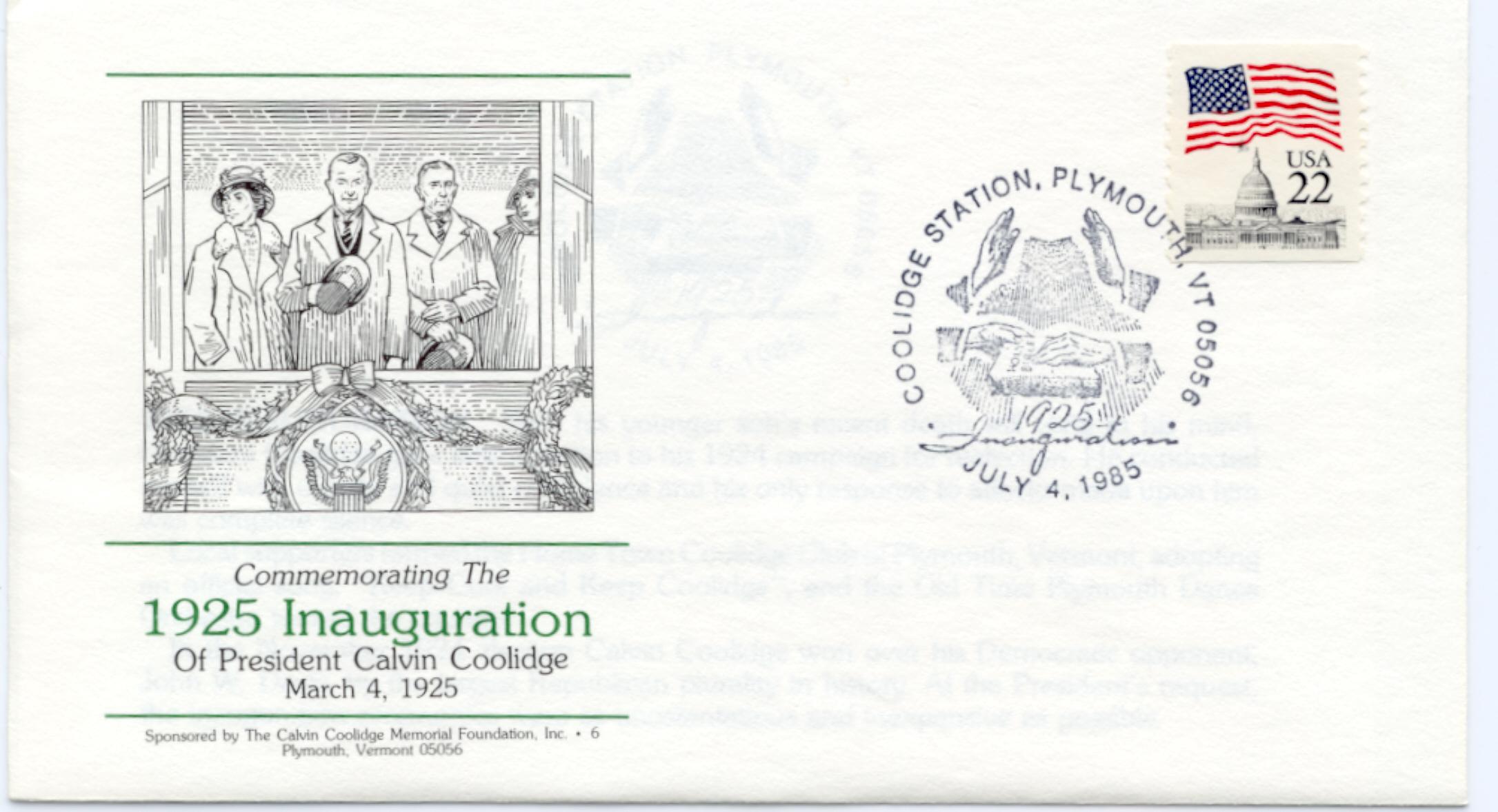 1925 Inauguration 85-07-04